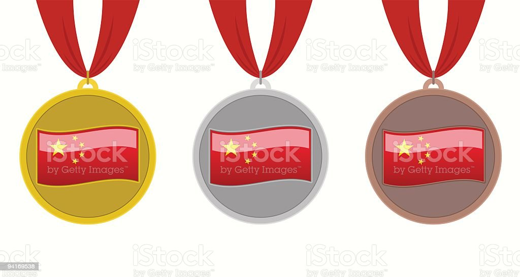 China Medals royalty-free stock vector art