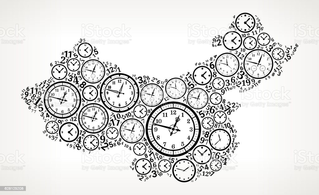 China On Time And Clock Vector Icon Pattern Stock Vektor Art und ...