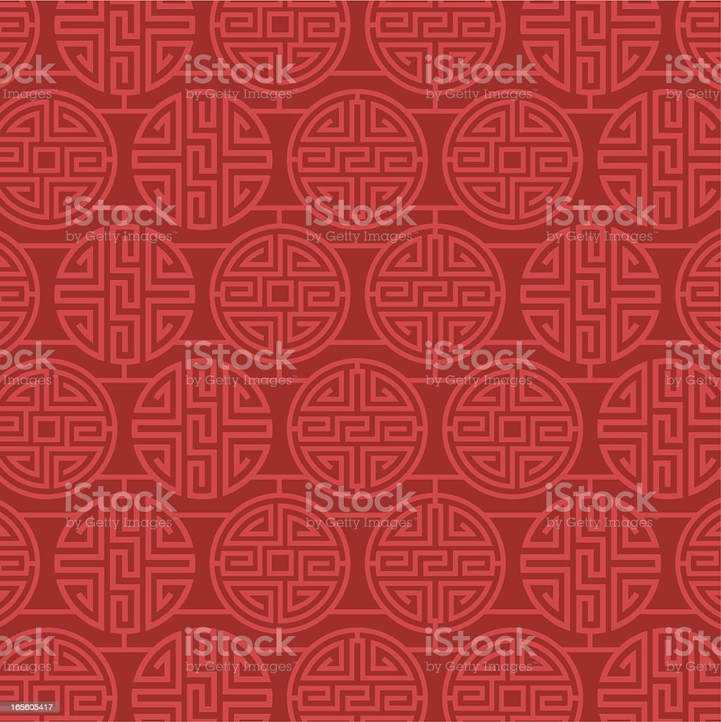 China Pattern Design vector art illustration