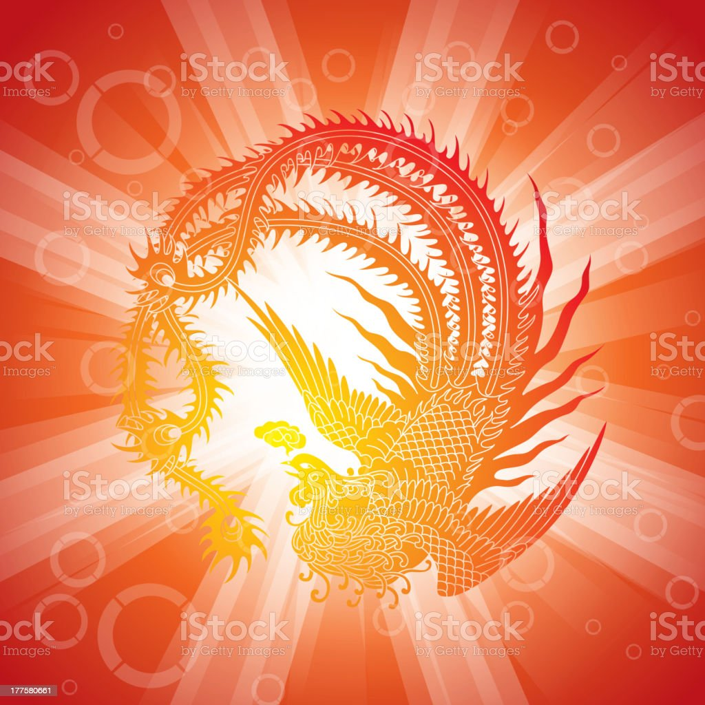 China phoenix royalty-free stock vector art