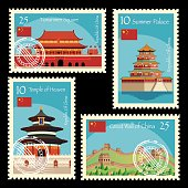 Vector China Postage