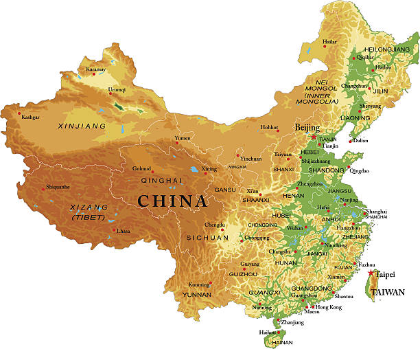 China On Map on