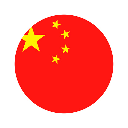 China - Round Flag Vector Flat Icon