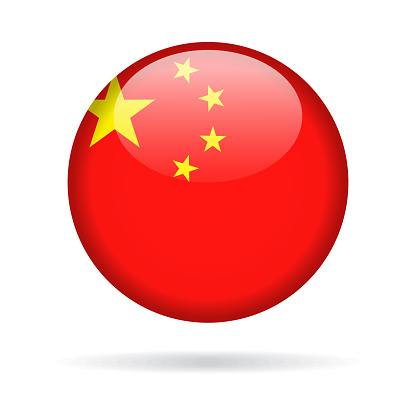 China - Round Flag Vector Glossy Icon