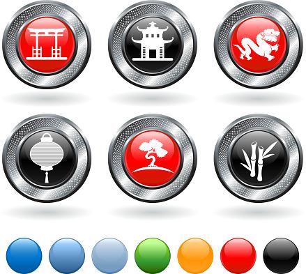 China royalty free vector icon set