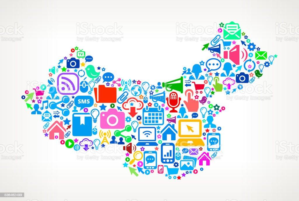 China Technology and Internet royalty free vector art Pattern vector art illustration