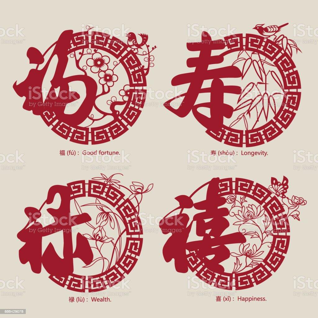 China Traditional Auspicious Symbols3 Stock Vector Art More Images