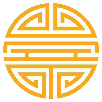 China traditional symbol - vector.