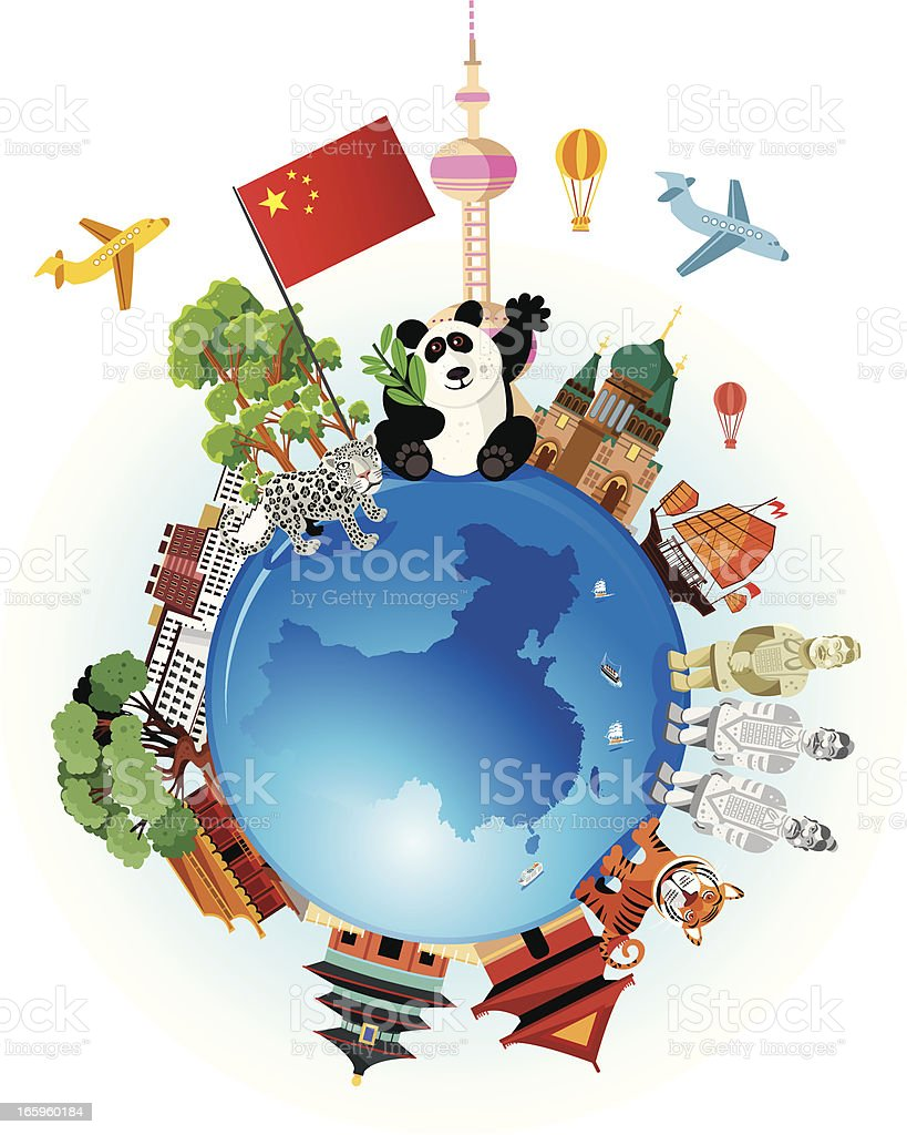 China Travel Cartoon royalty-free china travel cartoon stock vector art & more images of architecture