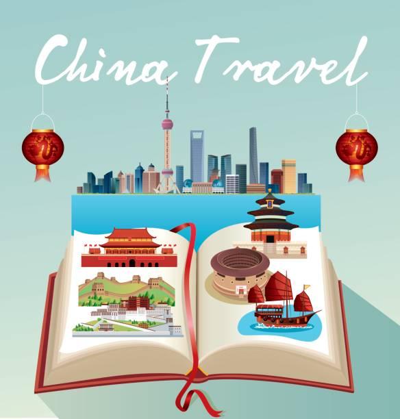 China Travel vector art illustration