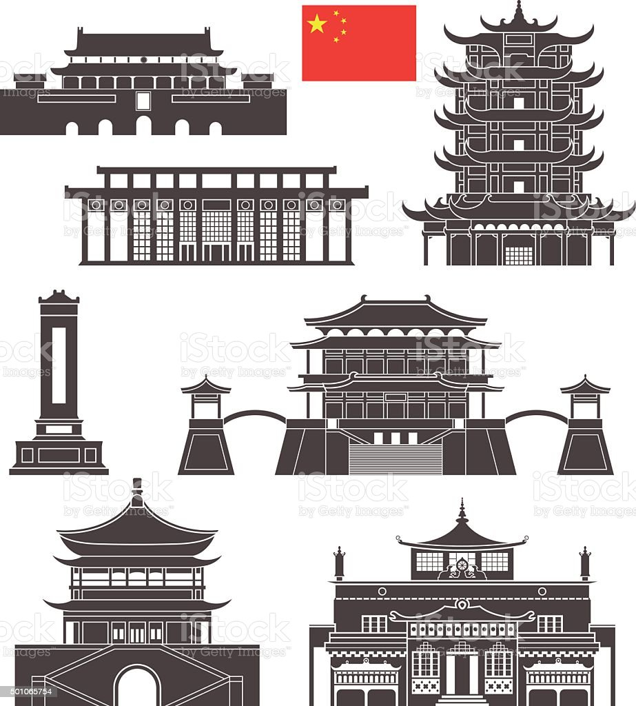 China vector art illustration