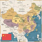 20 - China - Vintage Color Dark