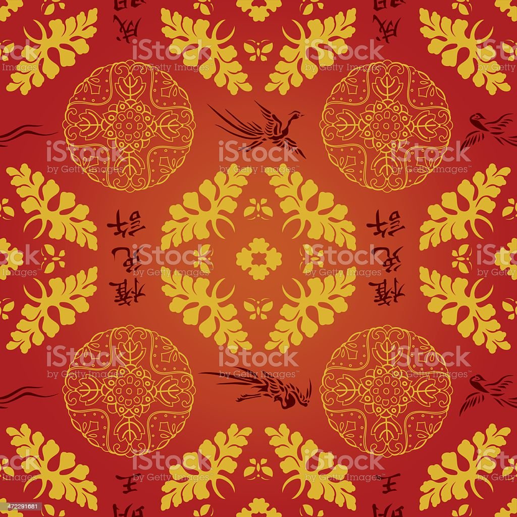 Chinese Amp Japanese Seamless Wallpaper Pattern Vector Background