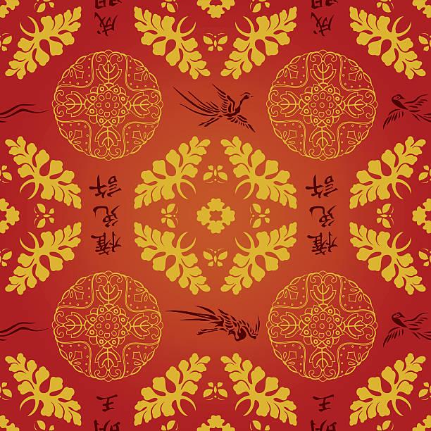 中国&日本のシームレスなパターンベクトル壁紙パターン背景のイラスト - ロココ調点のイラスト素材/クリップアート素材/マンガ素材/アイコン素材