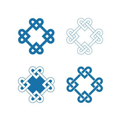 Chinese auspicious knot patterns