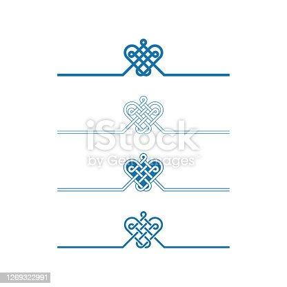 istock Chinese auspicious knot patterns 1269322991