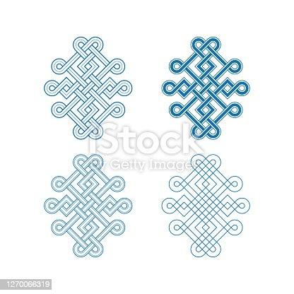 istock Chinese auspicious knot patterns 1270066319