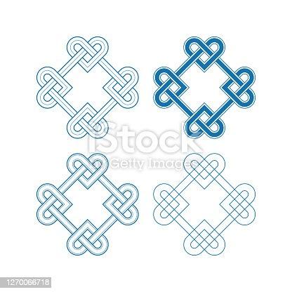 istock Chinese auspicious knot patterns 1270066718