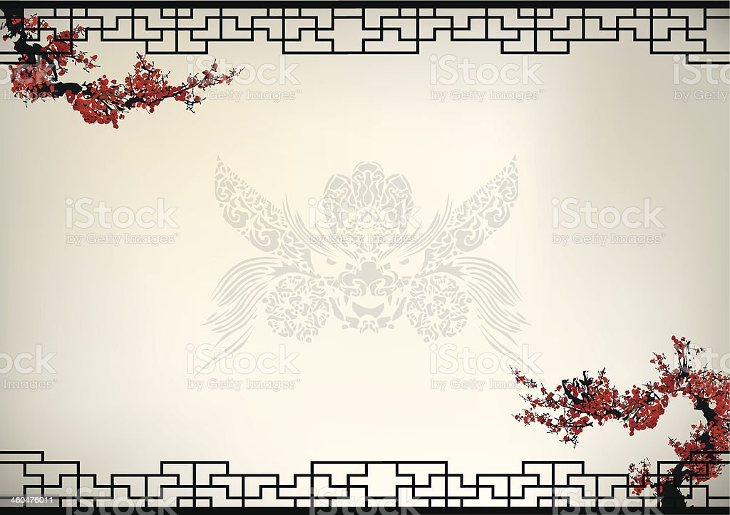 Chinese background vector art illustration