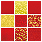 Set of backgrounds in Chinese pattern.