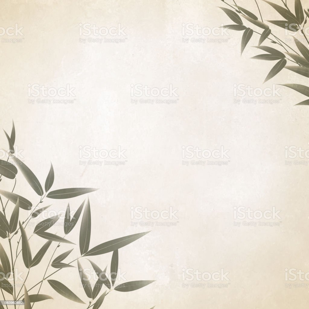 Chinese bamboo design. vector art illustration