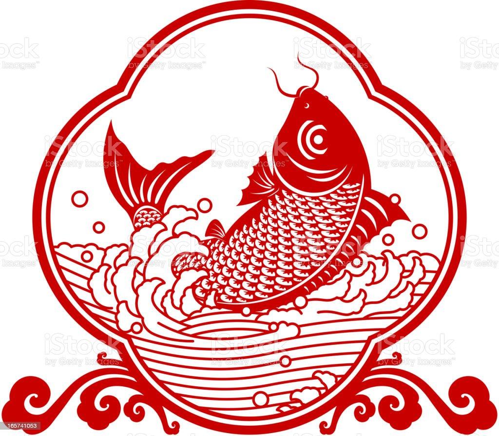 Chinese carp papercut art symbol stock vector art more images of chinese carp paper cut art symbol royalty free chinese carp papercut art symbol stock buycottarizona Gallery