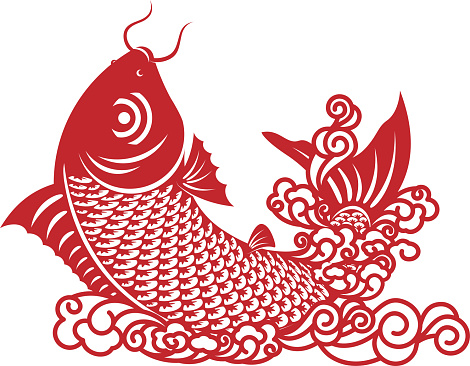 Chinese Carp Paper-cut Art