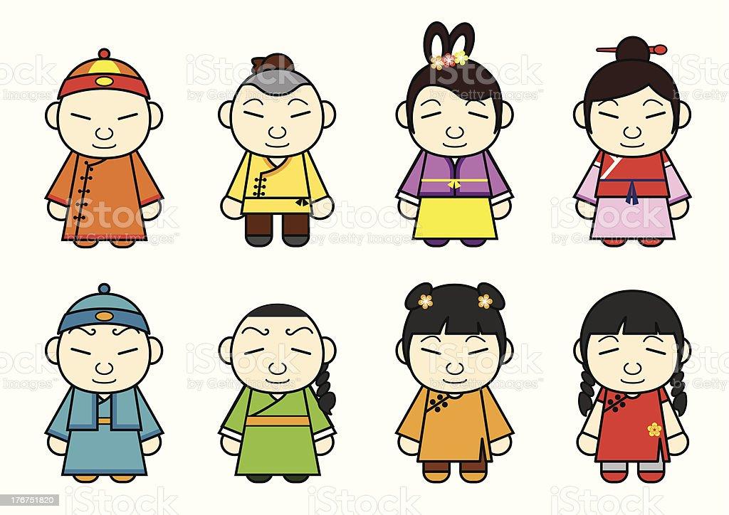 Chinesische Comicfiguren