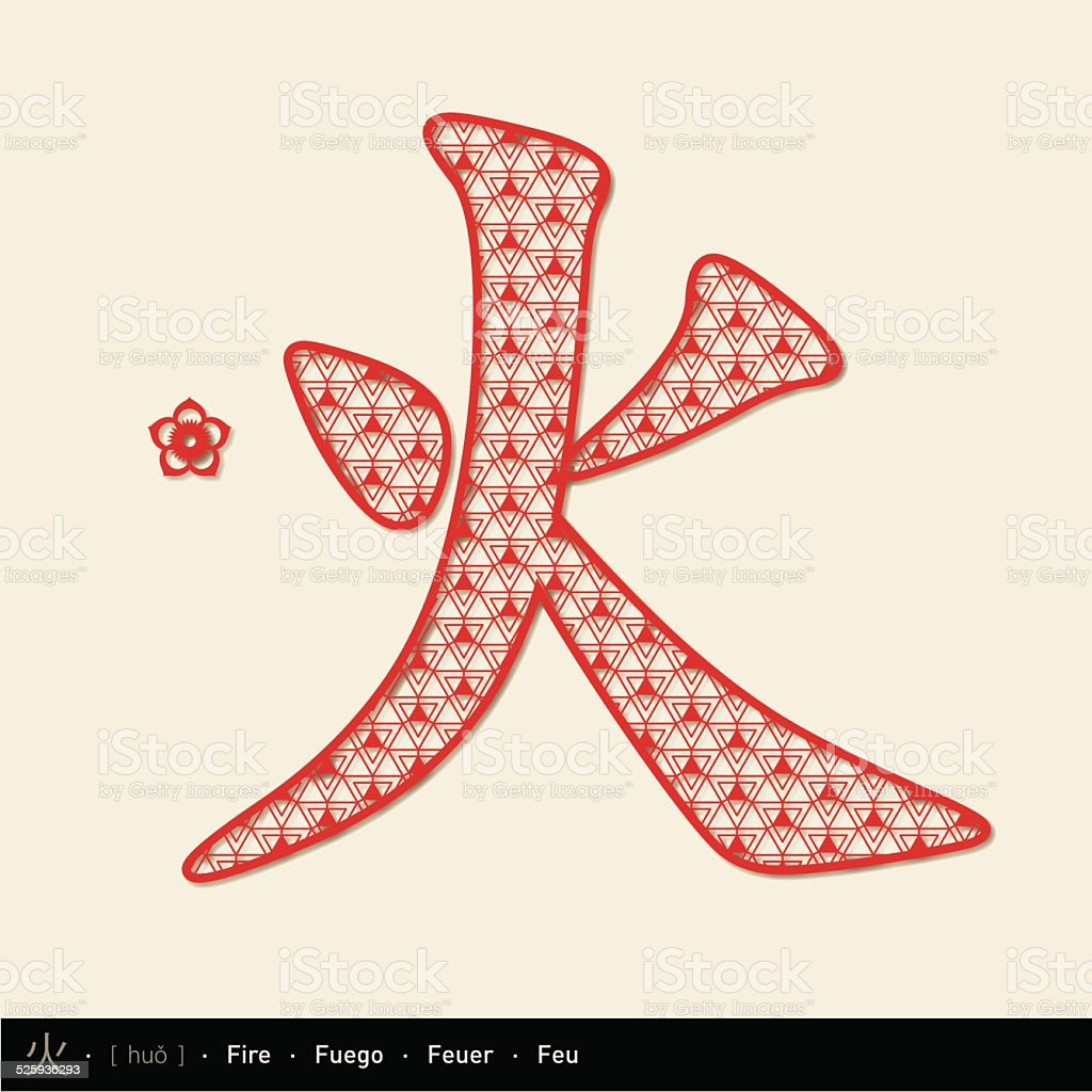 Chinese character fire stock vector art more images of abstract chinese character fire chinese paper cut royalty free chinese character fire stock vector buycottarizona