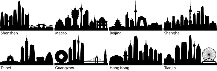Chinese Cities (All Buildings Are Complete and Moveable)