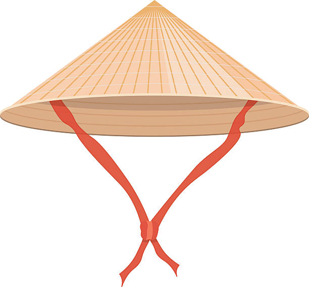 4cc0d91a724 Chinese conical straw hat vector illustration isolated on white background  vector art illustration · Farmers ...