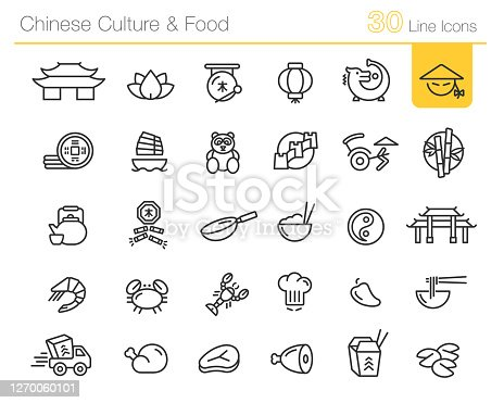 Vector line icons for media projects.