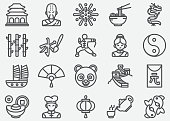 Chinese Culture Line Icons