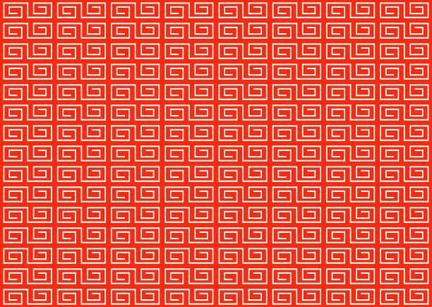 中国風装飾フレーム - ラーメン点のイラスト素材/クリップアート素材/マンガ素材/アイコン素材