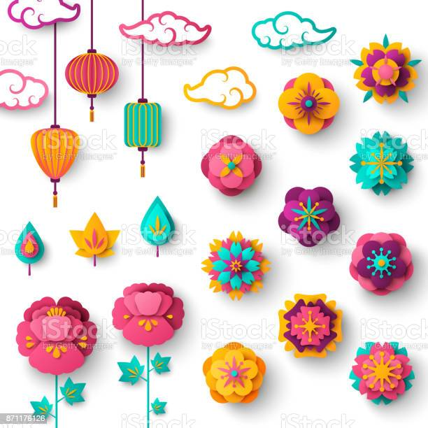 Chinese decorative icons clouds flowers and chinese lanterns vector id871176126?b=1&k=6&m=871176126&s=612x612&h=nwuhhk7lathvs81ff kn4zxdidx0vke eqbkkpuvff4=