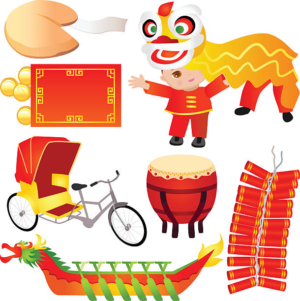 Chinese Design Elements vector art illustration