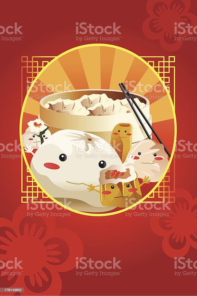 Chinesische Dim Sum Für Restaurantmenücover Stock Vektor Art und ...