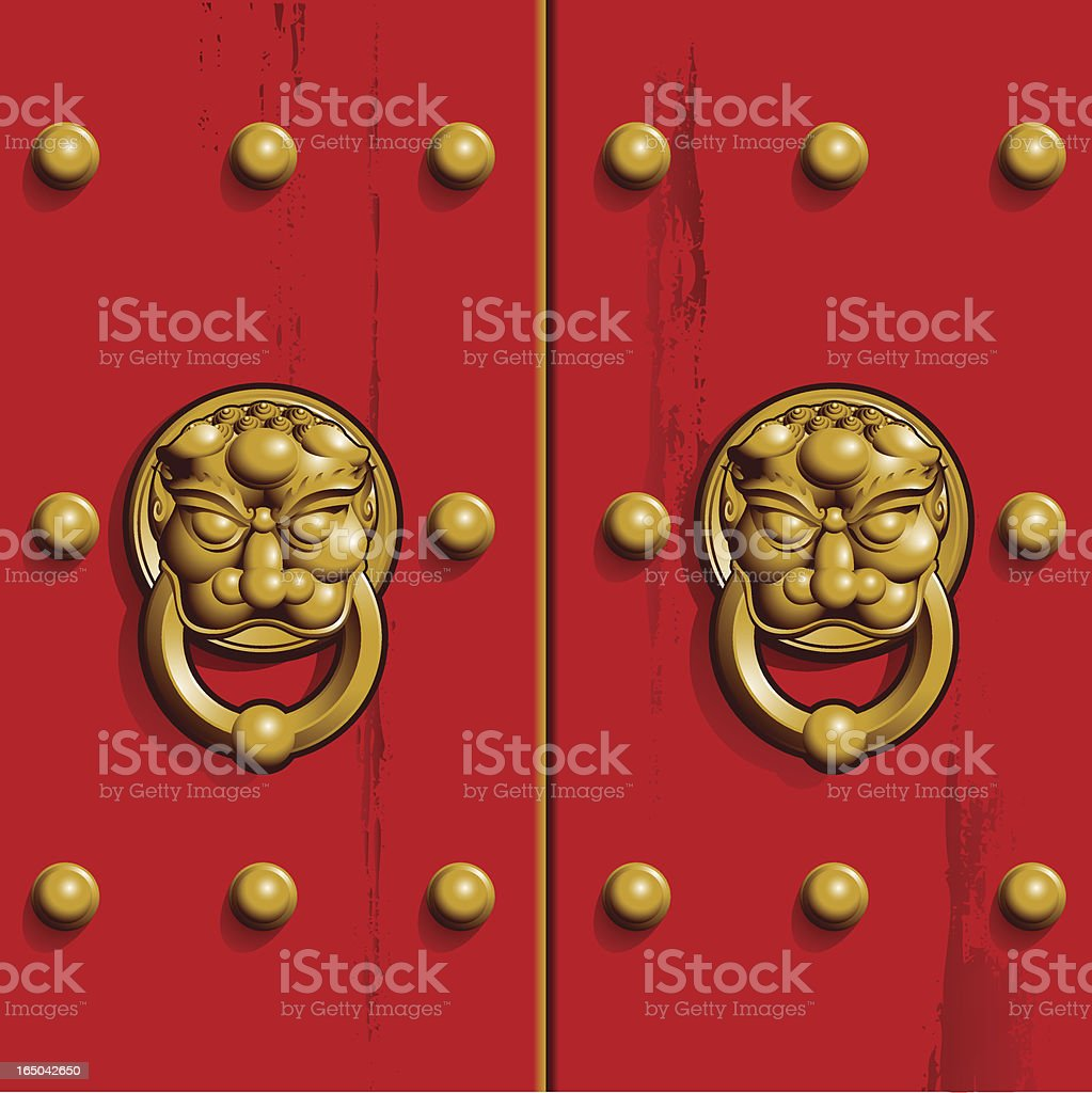 chinese door royalty-free chinese door stock vector art & more images of ancient