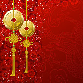 Decoration background for 2012 Year of the Dragon. EPS10.