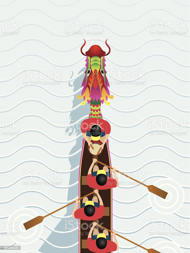 Chinese Dragon Boat competition illustration vector art illustration