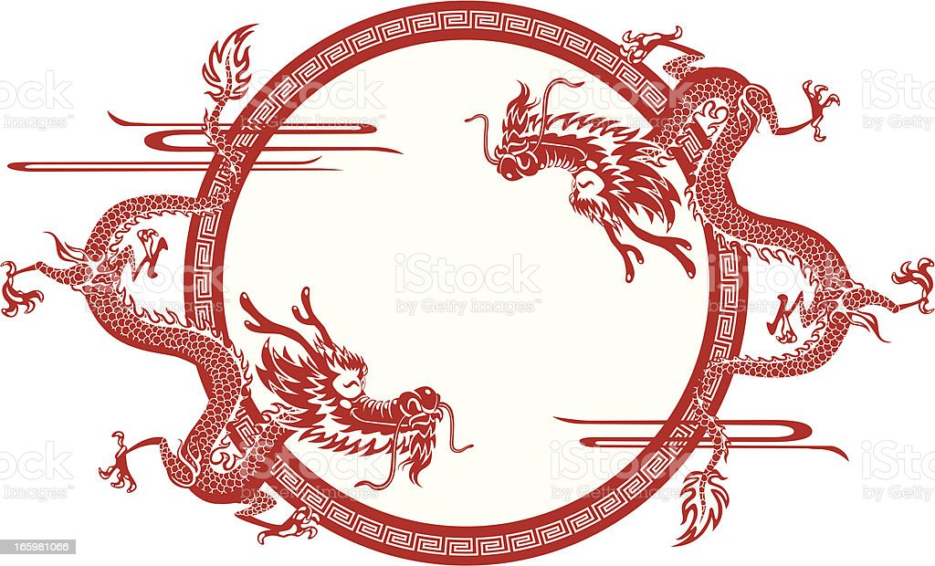 Chinese Dragon Frame Stock Vector Art & More Images of Ancient ...