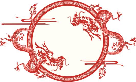 Chinese dragon frame