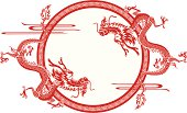 Chinese dragon frame
