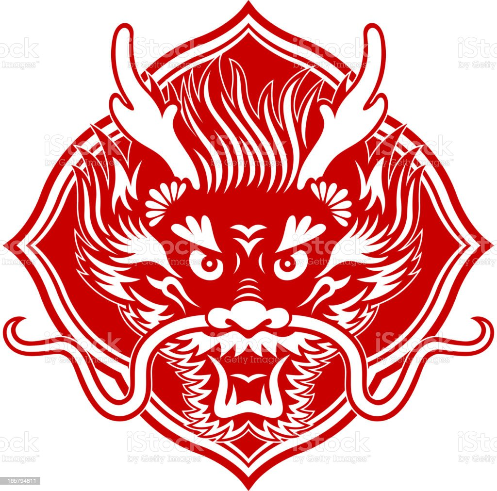 Dragon symbol chinese image collections symbol and sign ideas chinese dragon head papercut art symbol stock vector art more chinese dragon head paper cut art biocorpaavc