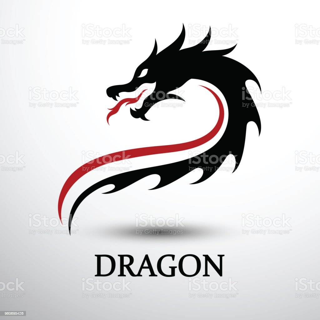 Chinese dragon head vector vector art illustration