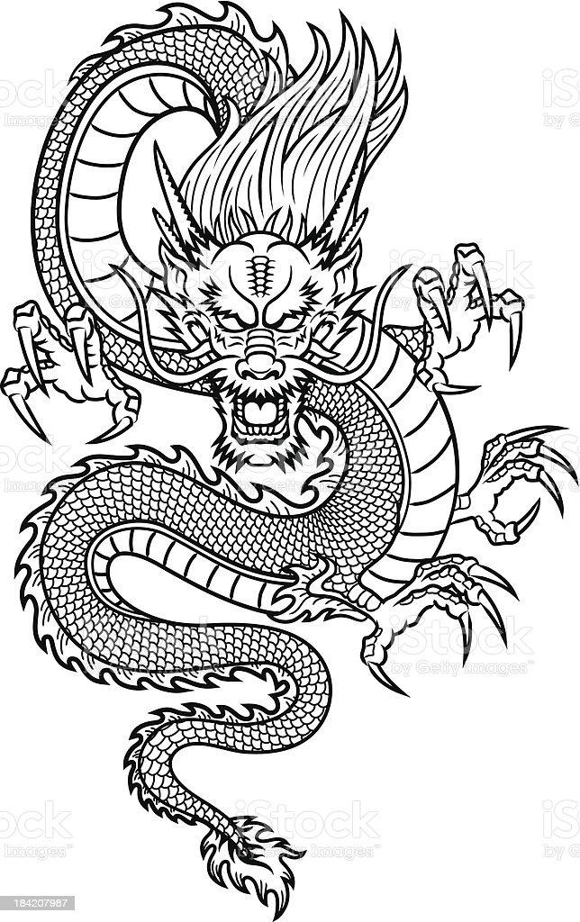 Chinesischer Drache – Vektorgrafik
