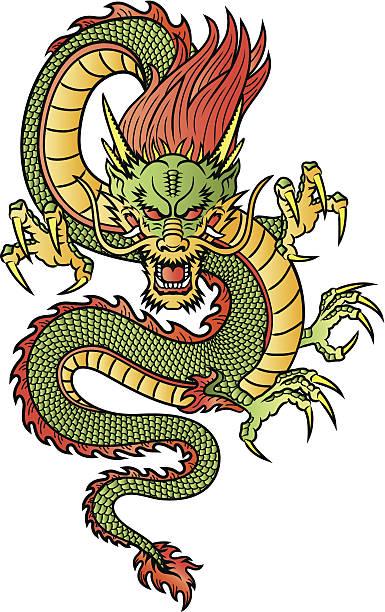 中国の竜 - 竜のタトゥー点のイラスト素材/クリップアート素材/マンガ素材/アイコン素材