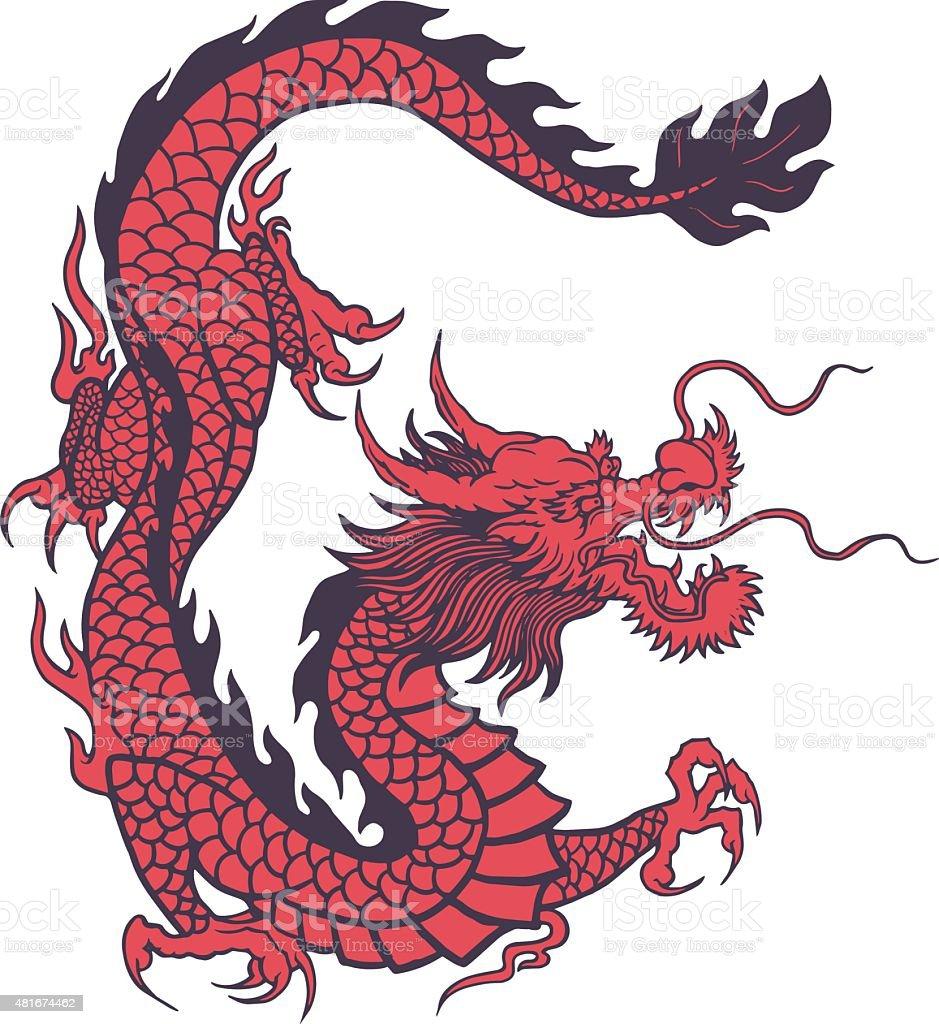 royalty free chinese dragon vector clip art vector images rh istockphoto com chinese dragon vector illustration chinese dragon vector circle