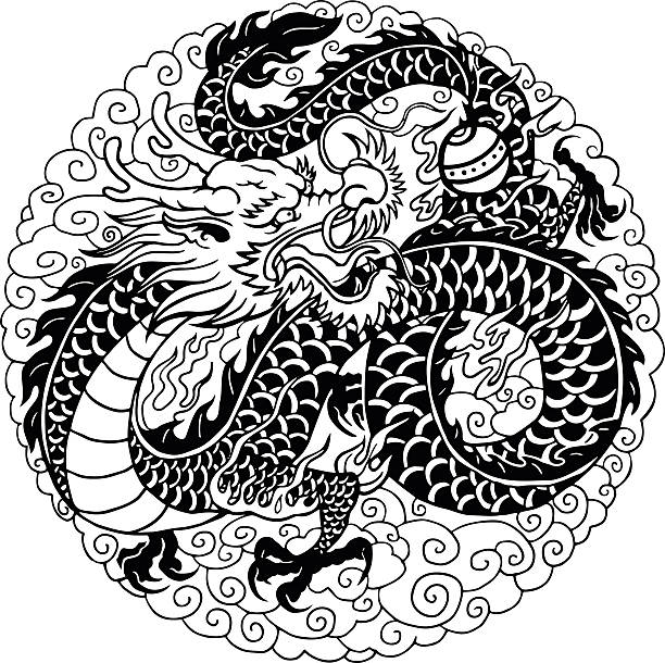 dragon chinois - Illustration vectorielle