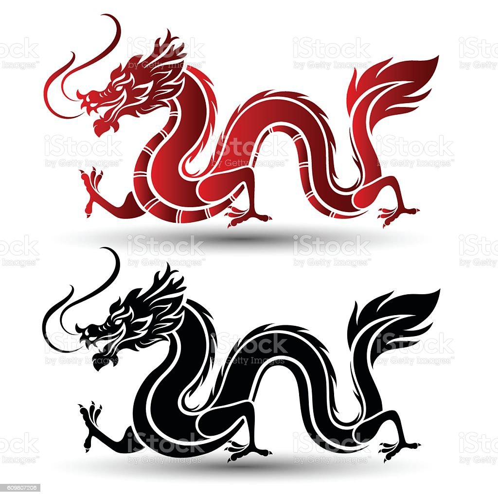 chinese dragon stock vector art more images of ancient 609807206 rh istockphoto com oriental dragon vector chinese dragon vector art